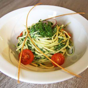 Spaghetti ze szpinakiem